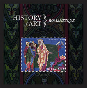 Ghana- 2013 History of Art Stamp- souvenir sheet SC#2753