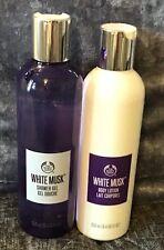 New Bodyshop Set White Musk Shower Gel & Body Lotion 250ml Each