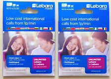 Lebara super fast 3G/4G PAY AS YOU GO trio SIM CARD (buy 1 get 2 free)
