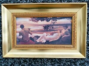Classical Oleograph Of Idyll By Lord Frederick Leighton In Gilded Frame