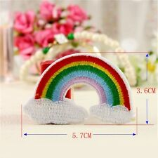 rainbow punk kids Patch DIY Iron On Embroidered Patches For Clothes Stickers