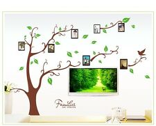 Asmi Collection PVC Wall Stickers Brown Photo Frame Tree