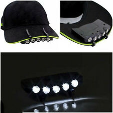 Ultra Bright 5 LED Clip On Cap Light Hard Hat Outdoor Fishing Camping Cycling
