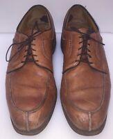Allen Edmonds Stockbridge Split Toe Oxfords Brown Rubber Soles Men's 10.5 B 3754