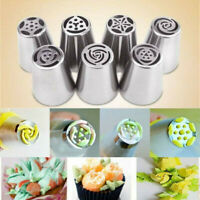 7Pcs Russian Icing Piping Nozzles Flower Cake Decor Pastry Tips DIY Baking Tools