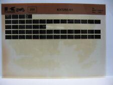 Kawasaki KXT250 1984 Parts List Microfiche NOS k256