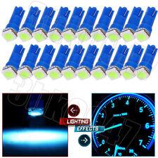 50X Ice Blue T5 1SMD LED Car Wedge Dashboard Instrument Panel Gauge Light Bulbs