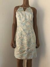 Lilly Pulitzer Sheath Mini Dress Metallic Cocktail Size 0