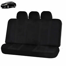 NEW SOLID BLACK DOUBLE STICH POLYESTER BENCH SEAT COVER 5PC SET FOR CARS 2922