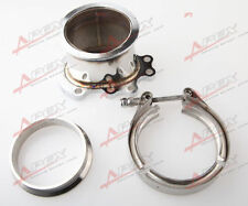 """FOR GT25R GT28R GT28RS To 3"""" INCH V-BAND VBAND CLAMP FLANGE DOWNPIPE ADAPTER KIT"""