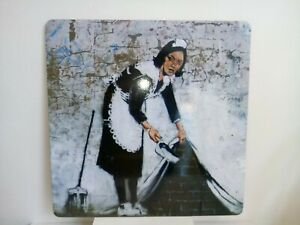 Banksy Maid - Large Laptop Rest - Banksy Art Mat - Desk Mat - Mouse Mat
