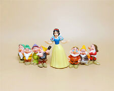 "lot 8 Disney Snow White With Seven Dwarfs Cake Topper Figures set 2""-4"" N8"