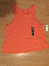 Womens Gap Tank Orange Small 100% Cotton