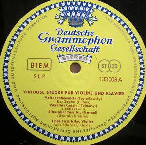 "SLP 133 008 Tibor Bisztriczky Virtuose Stucke Fur Violine 10"" DG STEREO no cover"