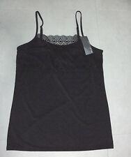 Ed.it.ed BODY: Size: 12-14. Slinky Sleek Black/Lace FrontTrim Cami Singlet