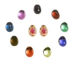 Joan Rivers 10 Color Interchangeable Pierced Checkerboard Earrings