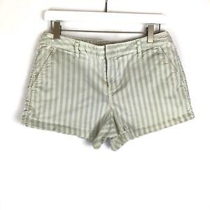 Joie Shorts Striped Shorts Demin Shorts Pockets Cotton Spandex Blend Size 4