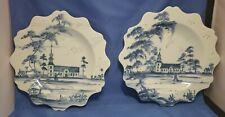 "juliska Williamsburg blue & white porcelain dishes 10"""