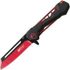 MTech A1057RD Black Anodized Aluminum Handle Assisted Open Red Linerlock Knife