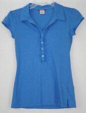 Unionbay Women's Blue Short Sleeve Polo Shirt Size Medium