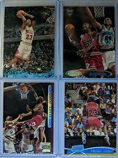 Lot of 4: 1995-1996-1997-1998 Topps STADIUM CLUB Michael Jordan, Premium MJ, HOF