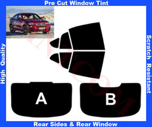 BMW X4 F26 5 Doors 2014-... Pre-Cut Window Tint 5%-50% Rear Window & Rear Sides