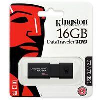 Kingston 16GB DataTraveler 100 USB 3.1 Flash Pen drive Memory Stick