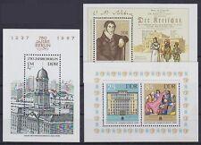 DDR Block 84, 85, 86 ** Block Sammlung 1986 / 1987, postfrisch, MNH