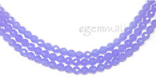 """15.5"""" Blue Chalcedony Quartz (Syn.) Round 6mm Faceted #60010"""