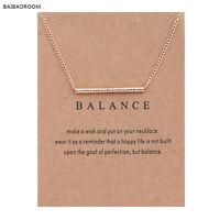 "Women's Fashion Jewelry ""Balance"" Gold Pendant Necklace 11-2"
