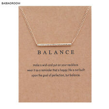 "Women's Fashion Jewelry ""Balance"" Gold Pendant Necklace 11-2"