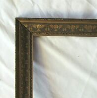 "ANTIQUE FITS 13.75"" X 17.75"" GOLD GILT ORNATE WOOD FRAME FINE ART VICTORIAN"