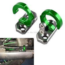 KAWASAKI KX KLX KDX KXF CNC ALLOY REAR BRAKE LINE GUIDES X 2 GREEN