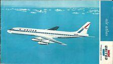 United Air Lines Air Atlas 1964 aéronautique itinéraire DC8 Boeing 727 Caravelle