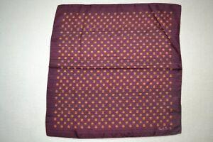 Paul Smith Mainline Overdye Striped Silk Pocket Square Mens Brand New