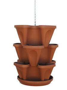 Stacking planter vertical garden hanging planter for herbs strawberries & more