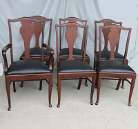 Antique Set of Six Matching Mahogany Dining Chairs