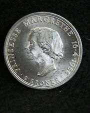 DENMARK 1958 2 KRONER BRILLIANT UNCIRCULATED COIN