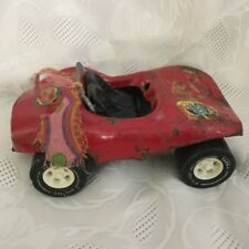 Vintage Tonka Red Convertible Dune Buggy with Flower Decal