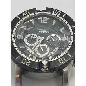 Invicta Pro Diver Men's Chronograph Black Watch Model 23696For Parts or Repair