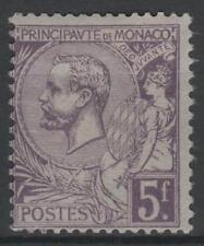 "MONACO STAMP TIMBRE N° 46 "" PRINCE ALBERT 1er 5F VIOLET "" NEUF xx TB N528"