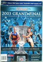 2003 AFL GRAND FINAL Football Record BRISBANE LIONS V. COLLINGWOOD Souvenir