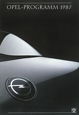 Opel Prospekt 1987 5/87 Senator Omega Corsa GT Manta GSi CC Kadett brochure Auto
