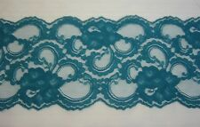 "#4630 5"" x 2 yards Teal Lace Fabric Craft Clothing Costume Dolls Home Decoration"