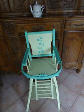 chaise haute ancienne relookée     pour déco  poupon ,poupée ,porte vase plante