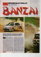 W14 Ritaglio Clipping 1995 Mondiale Rally 43. Safari Celica 4Wd Fujimoto Hertz