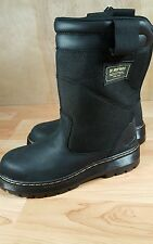 Dr. Martens Tipper Black Industrial Steel Toe Work Boot Safety Shoe Men's 7 NEW