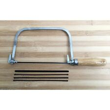 Coping Fret Saw Wooden Handle Steel Metal Frame With 5 Blades