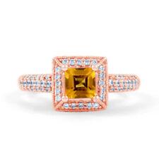 Ringe mit Edelsteinen im Cluster-Stil aus Weißgold für die Verlobung