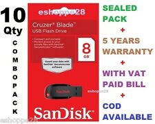 SANDISK CRUZER BLADE PEN DRIVE 8GB  (10 Pcs - COMBO PACK)